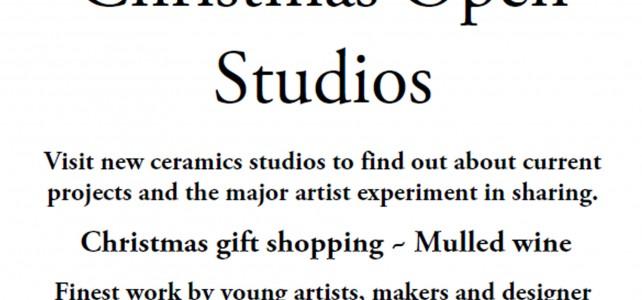 Christmas Open Studios 6-7 December